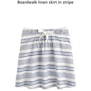J. Crew boardwalk linen stripe skirt